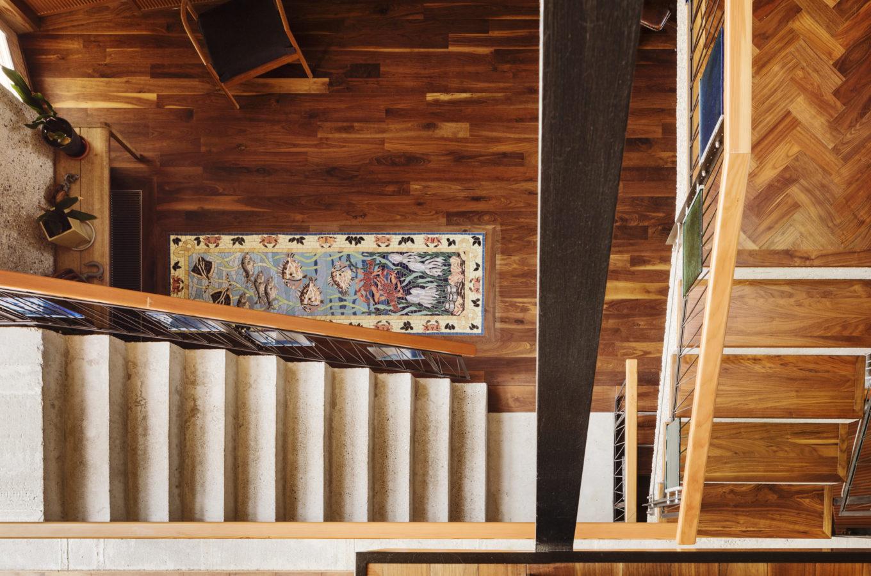 Sea themed mosaic floor panels in situ