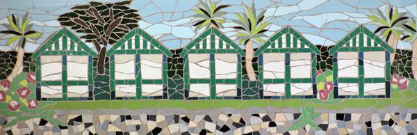 Langland Bay beach huts