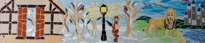 Narnia story garden mosaic