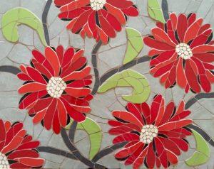 Red flower mosaic