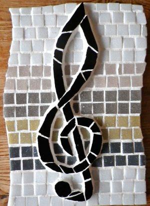 Treble clef mosaic
