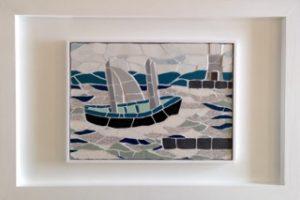 Wallis boat mosaic