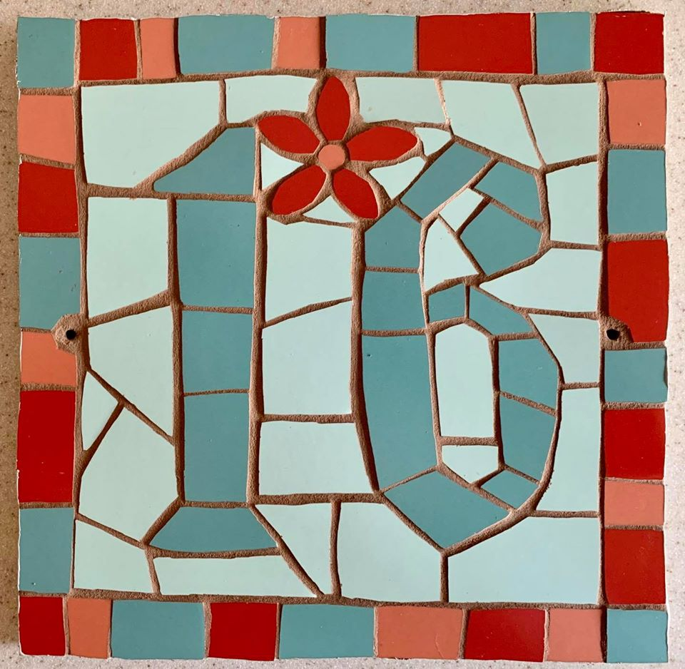 Mosaic house number hot off the press!