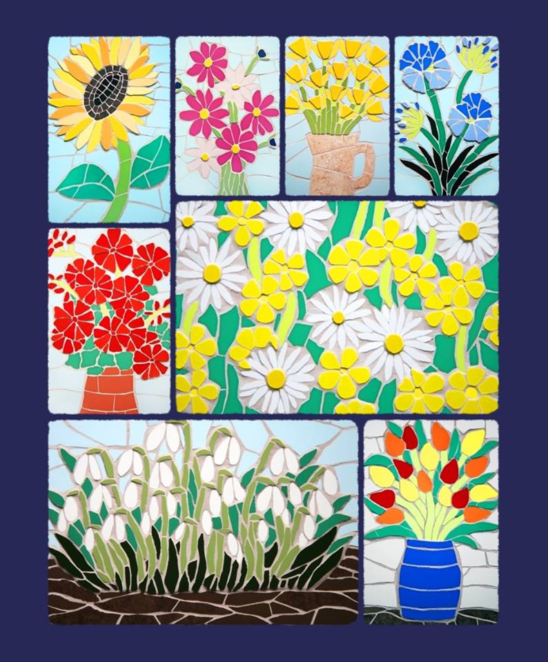 Commission a mosaic of your favourite flower!